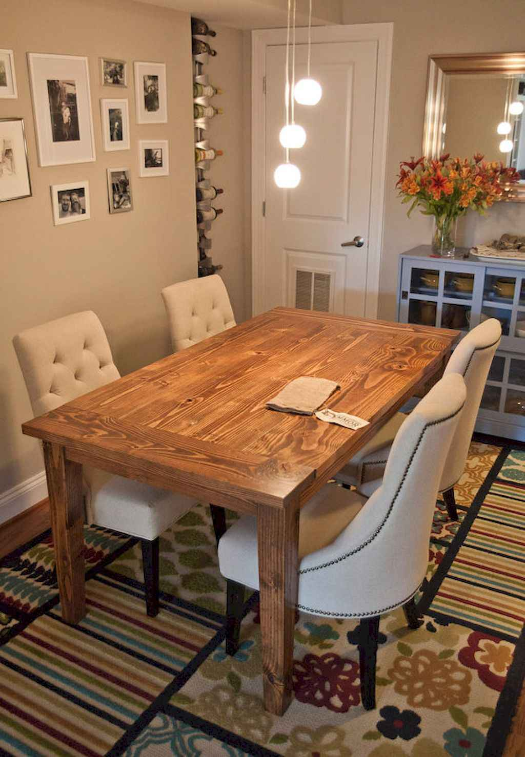 100 Rustic Farmhouse Dining Room Decor Ideas (68)