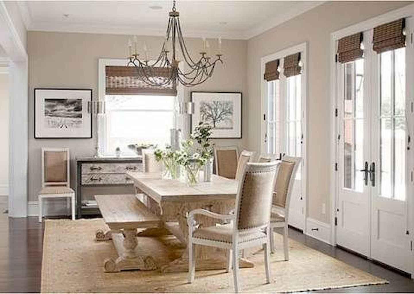 100 Rustic Farmhouse Dining Room Decor Ideas (79)