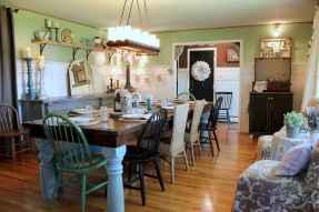 100 Rustic Farmhouse Dining Room Decor Ideas (90)