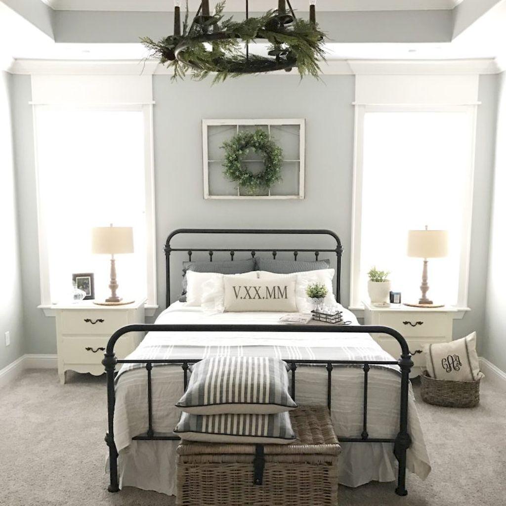 100 Stunning Farmhouse Master Bedroom Decor Ideas (10)