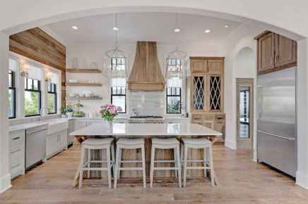 110 Amazing Farmhouse Kitchen Decor Ideas (78)