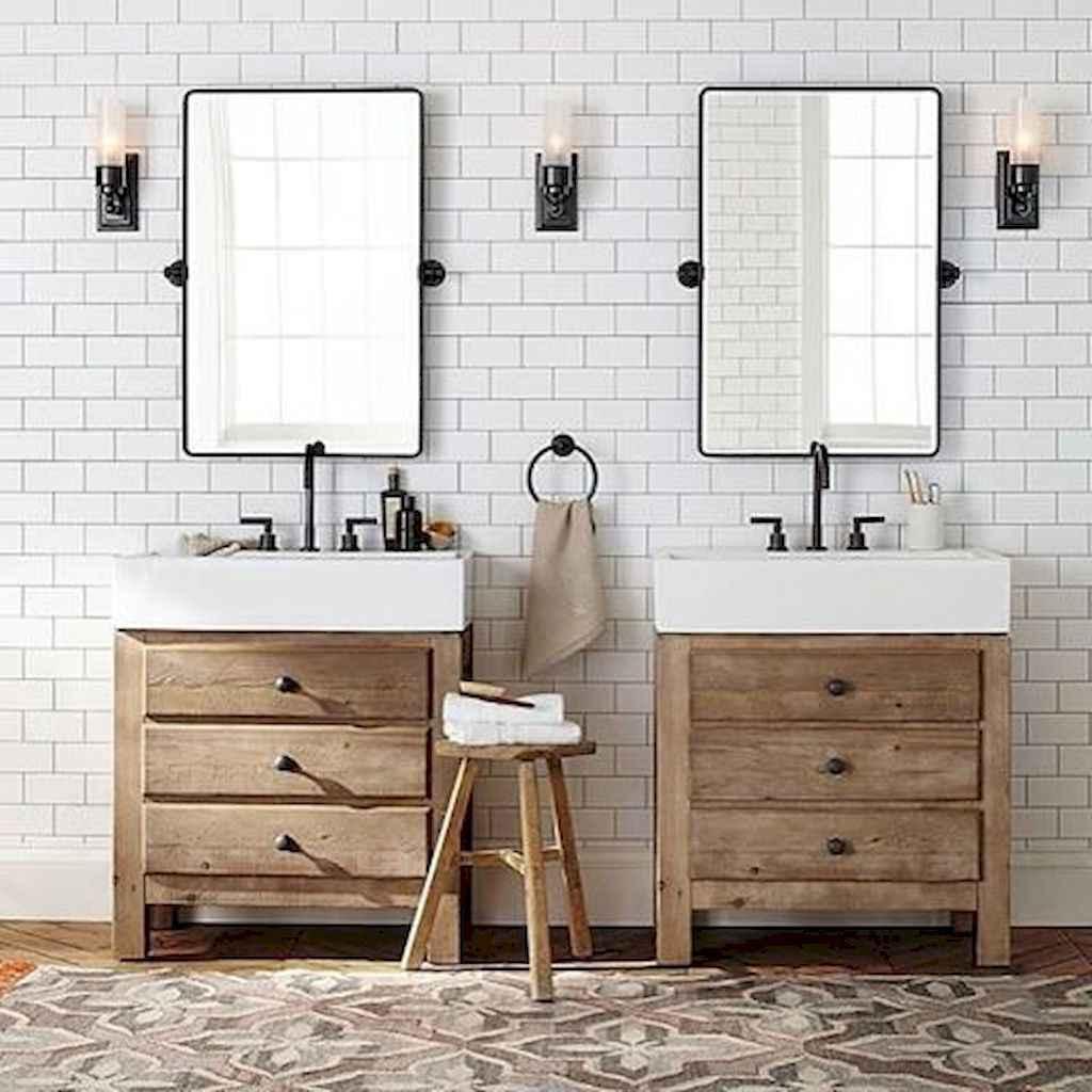 110 Best Farmhouse Bathroom Decor Ideas (101)