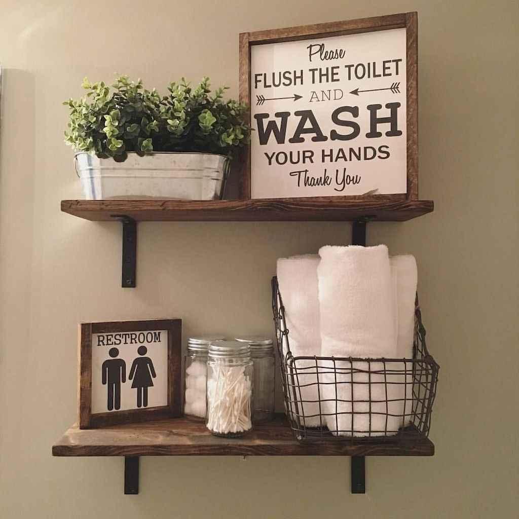 110 Best Farmhouse Bathroom Decor Ideas (102)