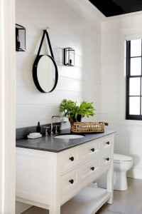 110 Best Farmhouse Bathroom Decor Ideas (108)