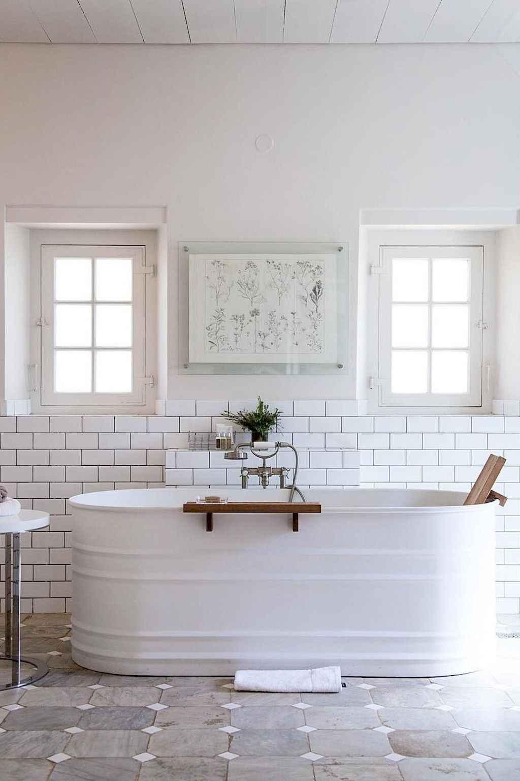 110 Best Farmhouse Bathroom Decor Ideas (109)