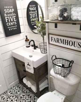 110 Best Farmhouse Bathroom Decor Ideas (116)
