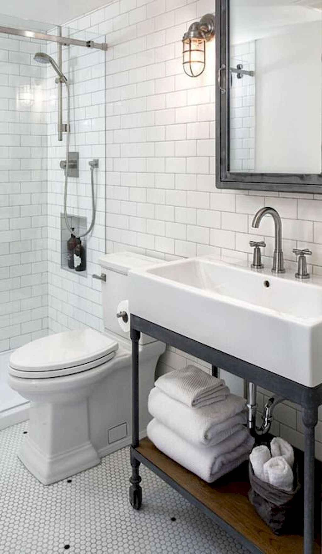 110 Best Farmhouse Bathroom Decor Ideas (119)
