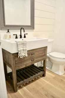 110 Best Farmhouse Bathroom Decor Ideas (121)