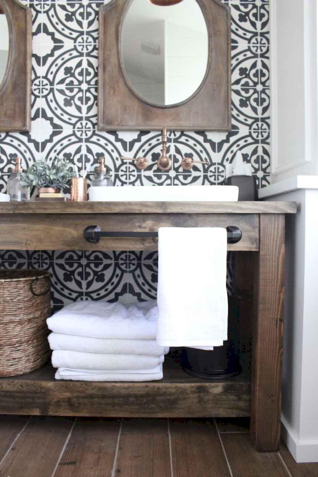 110 Best Farmhouse Bathroom Decor Ideas (133)