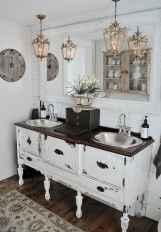 110 Best Farmhouse Bathroom Decor Ideas (145)