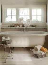 110 Best Farmhouse Bathroom Decor Ideas (149)