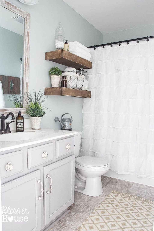 110 Best Farmhouse Bathroom Decor Ideas (151)