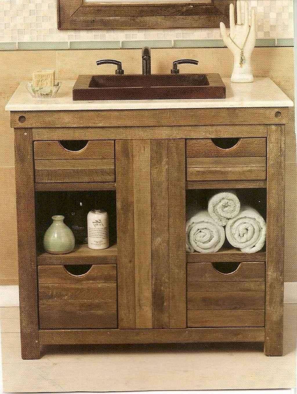 110 Best Farmhouse Bathroom Decor Ideas (158)
