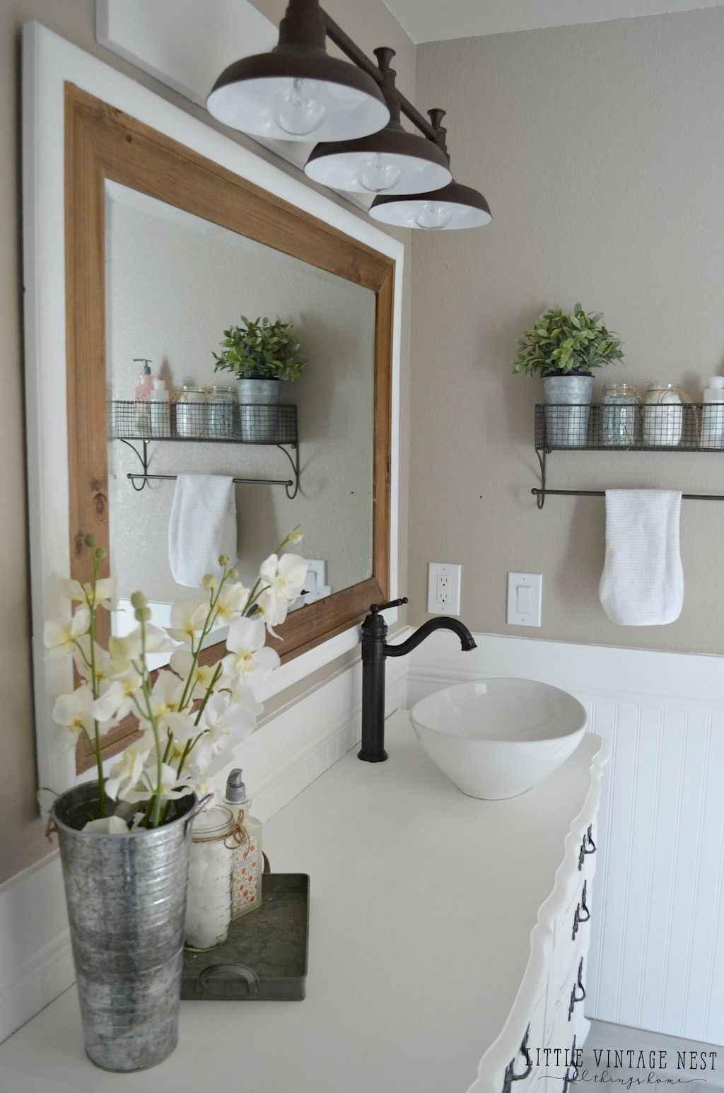 110 Best Farmhouse Bathroom Decor Ideas (179)