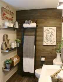 110 Best Farmhouse Bathroom Decor Ideas (199)