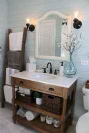 125 Brilliant Farmhouse Bathroom Vanity Remodel Ideas (31)