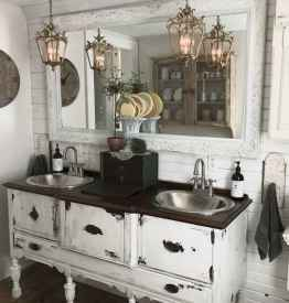 125 Brilliant Farmhouse Bathroom Vanity Remodel Ideas (44)