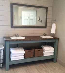 125 Brilliant Farmhouse Bathroom Vanity Remodel Ideas (92)