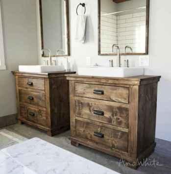 125 Brilliant Farmhouse Bathroom Vanity Remodel Ideas (98)