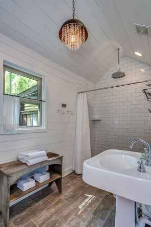 80 Awesome Farmhouse Tile Shower Decor Ideas (57)