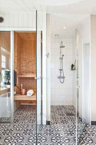 80 Awesome Farmhouse Tile Shower Decor Ideas (82)
