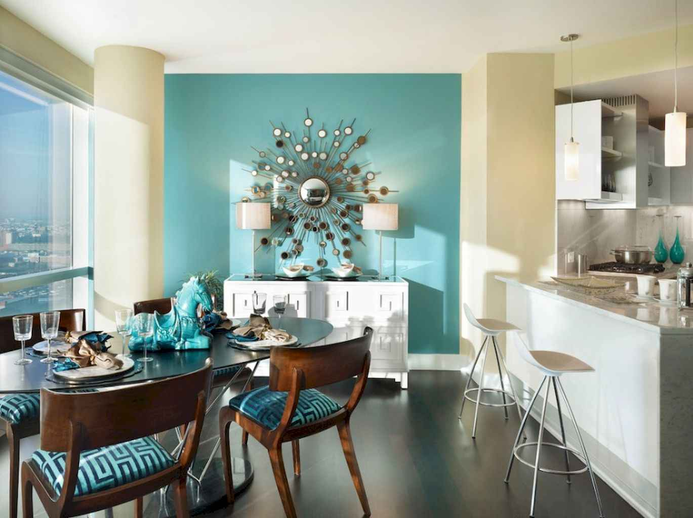 80 Stunning Apartment Dining Room Decor Ideas (46)
