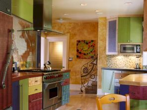 Top 40 Colorful Kitchen Cabinet Remodel Ideas For First Apartment (1)