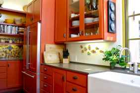 Top 40 Colorful Kitchen Cabinet Remodel Ideas For First Apartment (21)