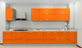 Top 40 Colorful Kitchen Cabinet Remodel Ideas For First Apartment (25)