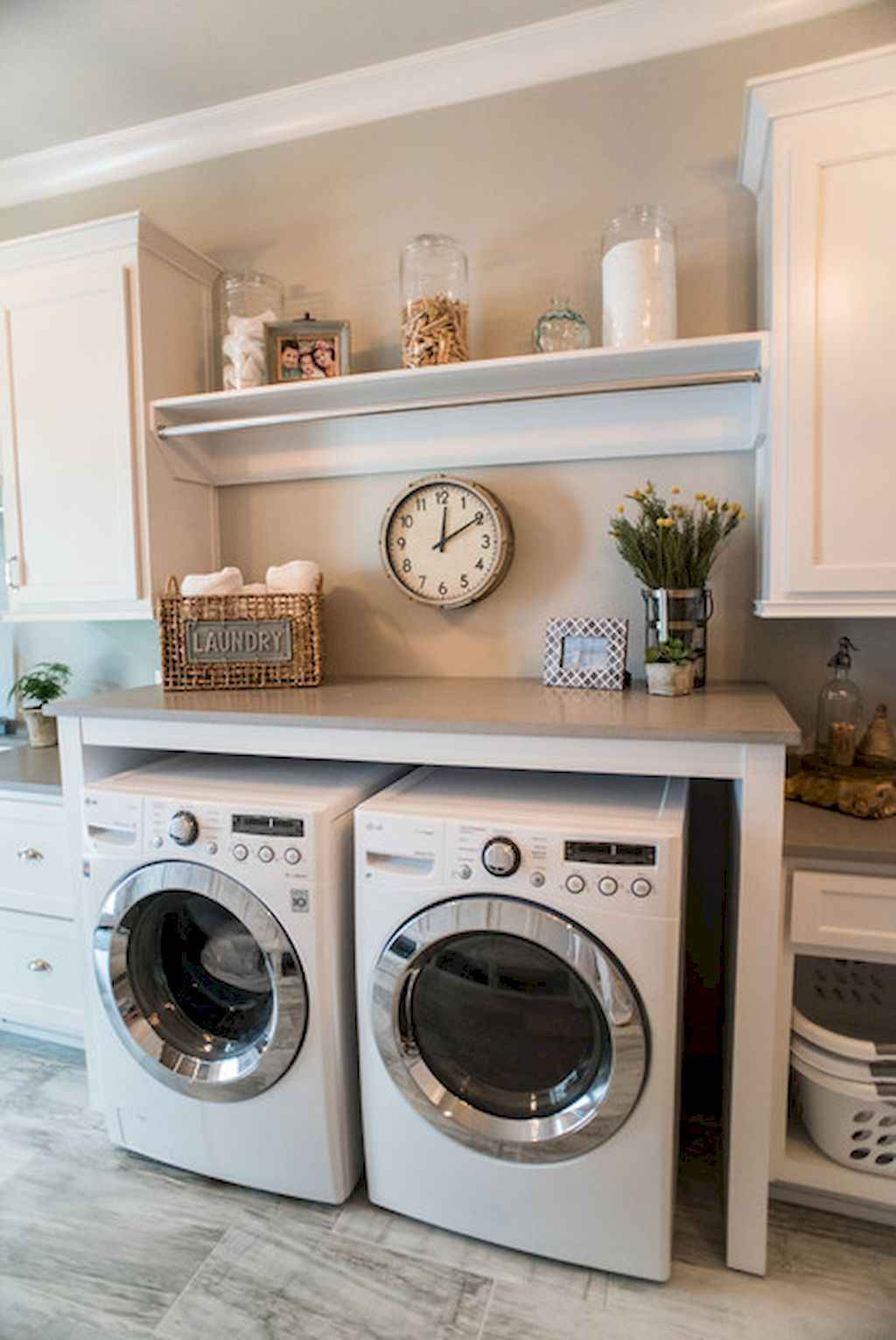 45 Rustic Farmhouse Laundry Room Design Ideas and Makeover (24)