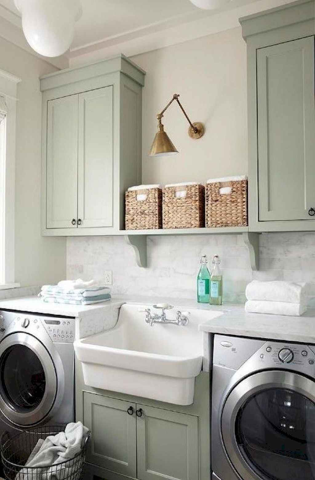45 Rustic Farmhouse Laundry Room Design Ideas and Makeover (28)