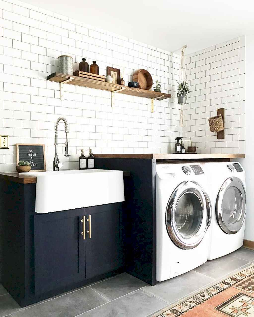 45 Rustic Farmhouse Laundry Room Design Ideas and Makeover (4)