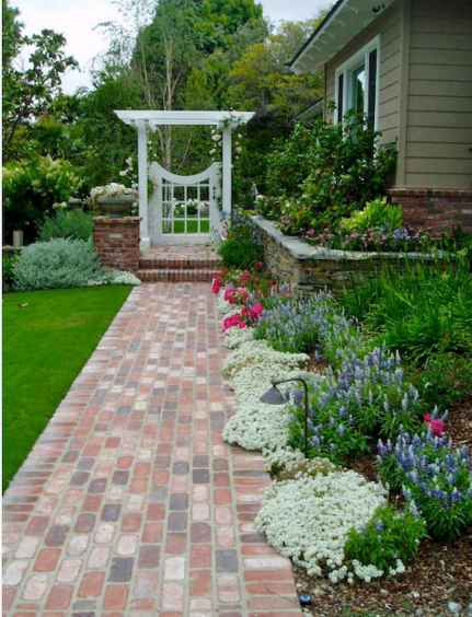 55 Beautiful Side Yard Garden Design Ideas (14)