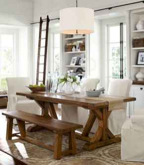 60 Rustic Farmhouse Dining Room Table Decor Ideas and Makeover (11)