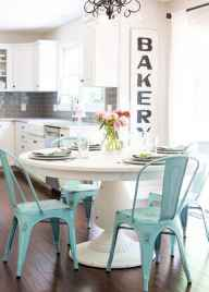 60 Rustic Farmhouse Dining Room Table Decor Ideas and Makeover (17)