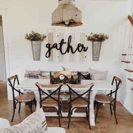 60 Rustic Farmhouse Dining Room Table Decor Ideas and Makeover (2)