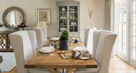 60 Rustic Farmhouse Dining Room Table Decor Ideas and Makeover (30)
