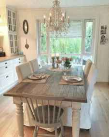 60 Rustic Farmhouse Dining Room Table Decor Ideas and Makeover (33)