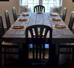 60 Rustic Farmhouse Dining Room Table Decor Ideas and Makeover (38)