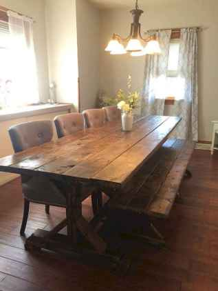 60 Rustic Farmhouse Dining Room Table Decor Ideas and Makeover (40)