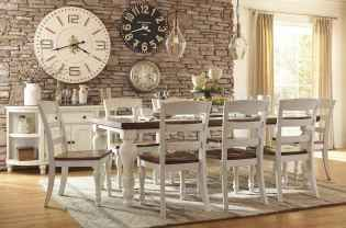 60 Rustic Farmhouse Dining Room Table Decor Ideas and Makeover (41)