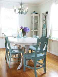60 Rustic Farmhouse Dining Room Table Decor Ideas and Makeover (9)
