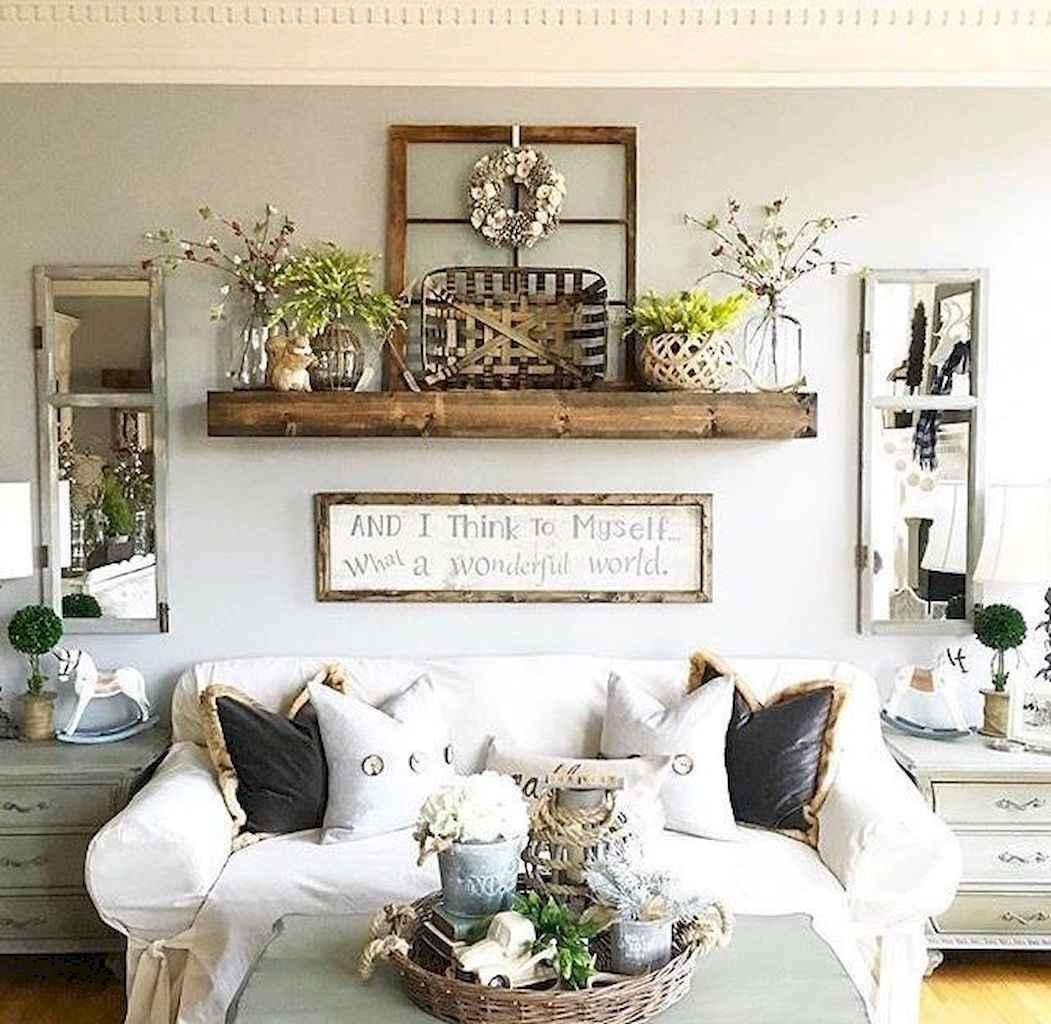 70 Rustic Farmhouse Living Room Decor Ideas (1) - LivingMarch.com