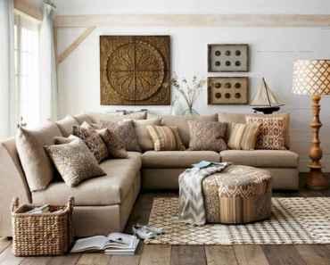 70 Rustic Farmhouse Living Room Decor Ideas (34)