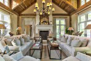 70 Rustic Farmhouse Living Room Decor Ideas (42)