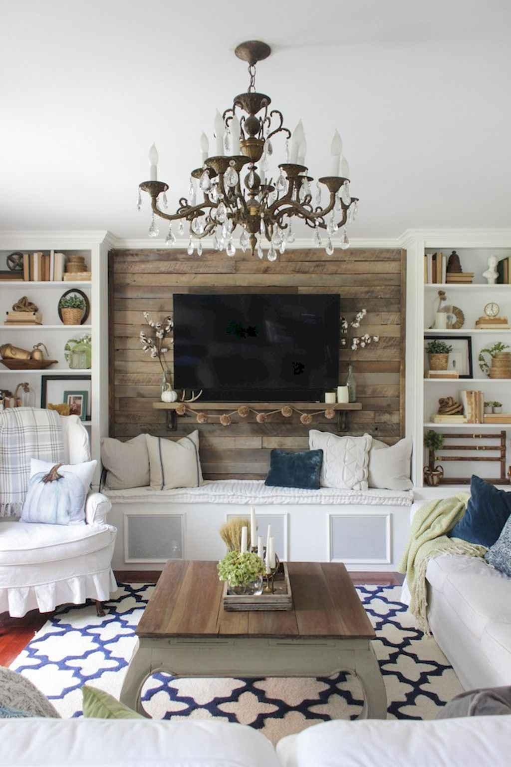 70 Rustic Farmhouse Living Room Decor Ideas (63)