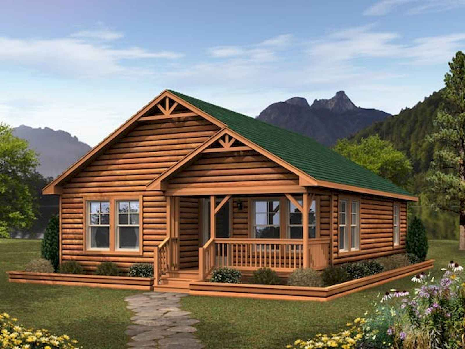 60 Rustic Log Cabin Homes Plans Design Ideas And Remodel (38)