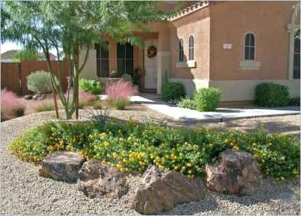 60 Stunning Low Maintenance Front Yard Landscaping Design Ideas And Remodel (25)
