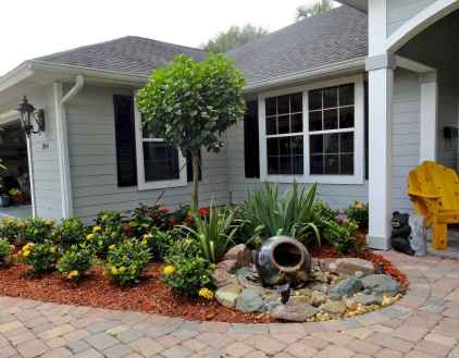 60 Stunning Low Maintenance Front Yard Landscaping Design Ideas And Remodel (43)