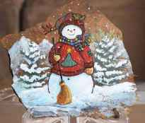 50 Creative DIY Christmas Painted Rock Design Ideas (3)